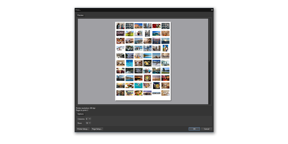Software to print many photos